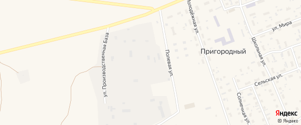 Улица Производственная база на карте Пригородного поселка с номерами домов