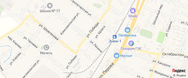 Улица Щорса на карте поселка Энема с номерами домов