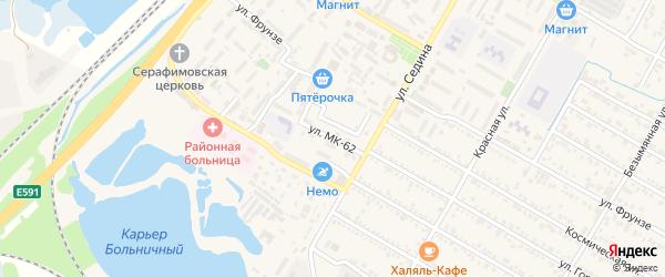Улица МК-62 на карте поселка Энема с номерами домов