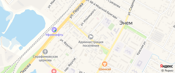 Улица Чкалова на карте поселка Энема с номерами домов