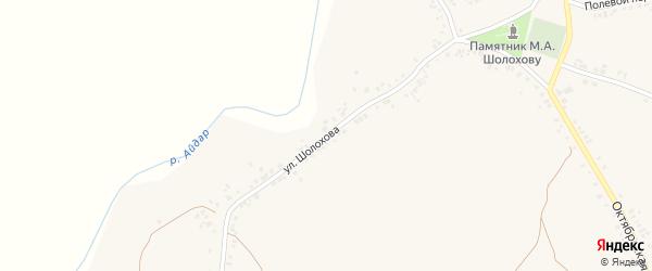 Улица Шолохова на карте поселка Ровенек с номерами домов