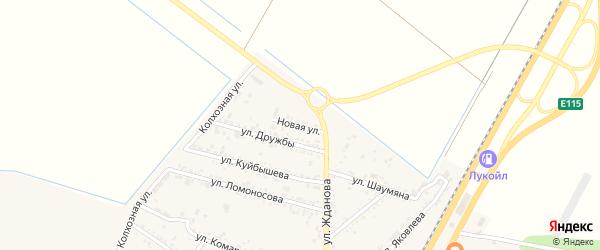 Новая улица на карте поселка Энема с номерами домов