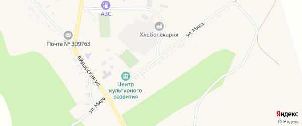 Улица Мира на карте села Новоалександровки с номерами домов