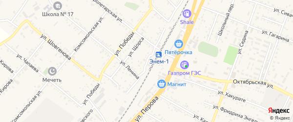 Железнодорожная улица на карте поселка Энема с номерами домов