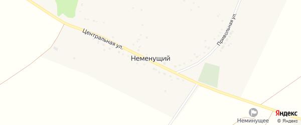 Привольная улица на карте Неменущего хутора с номерами домов