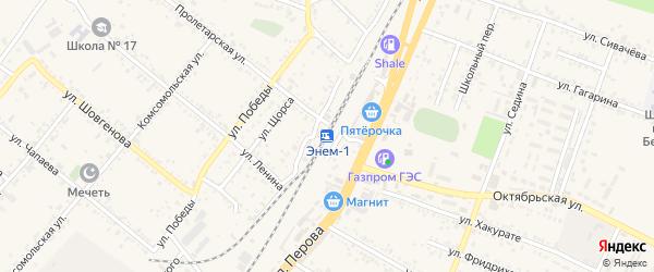 Дорога А/Д Подъезд к п. Энем на карте поселка Энема с номерами домов