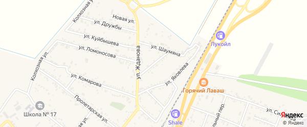 Улица Пушкина на карте поселка Энема с номерами домов
