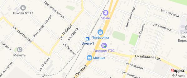 Привокзальный переулок на карте поселка Энема с номерами домов