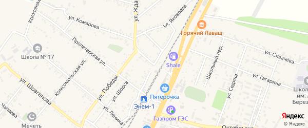 Улица Мира на карте поселка Энема с номерами домов