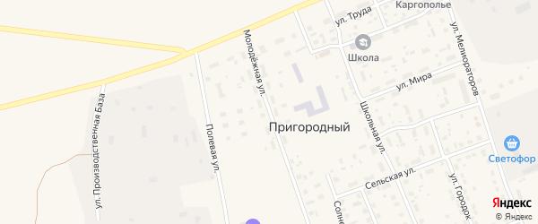 Молодежная улица на карте Пригородного поселка с номерами домов