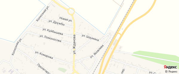 Улица Шаумяна на карте поселка Энема с номерами домов
