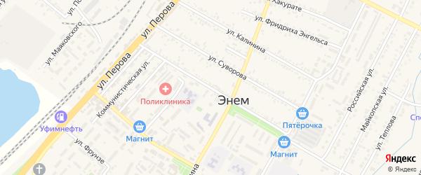 Улица 68 Морской бригады на карте поселка Энема с номерами домов