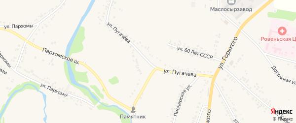 Улица Пугачева на карте поселка Ровенек с номерами домов