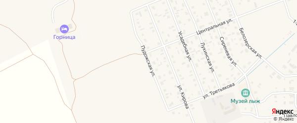 Пудожская улица на карте Каргополя с номерами домов