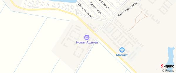 Дорога А/Д Подъезд к а. Новая Адыгея на карте аула Новой Адыгеи с номерами домов