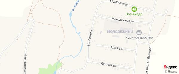 Улица Чапаева на карте поселка Ровенек с номерами домов