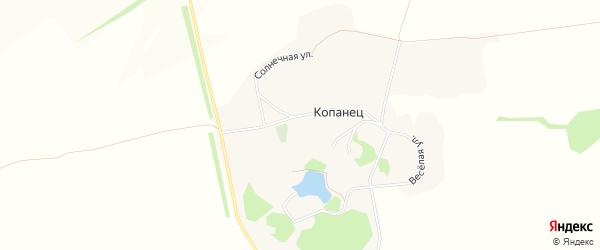 Карта хутора Копанца в Белгородской области с улицами и номерами домов