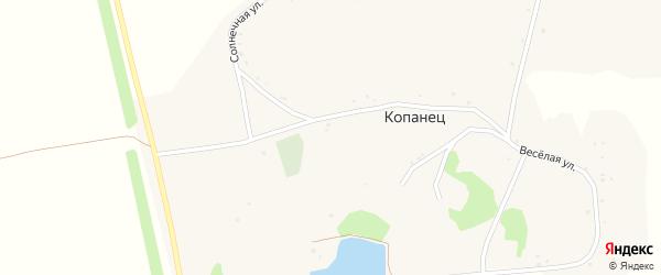 Солнечная улица на карте хутора Копанца с номерами домов