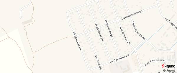 Улица Кирова на карте Каргополя с номерами домов
