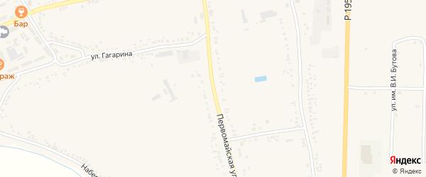Первомайская улица на карте поселка Ровенек с номерами домов