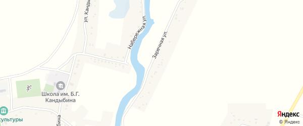 Заречная улица на карте села Айдара с номерами домов