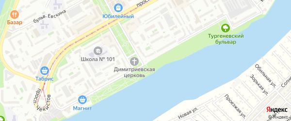 Набережная улица на карте садового некоммерческого товарищества Закубанские сады с номерами домов