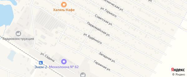 Улица Буденного на карте поселка Энема с номерами домов