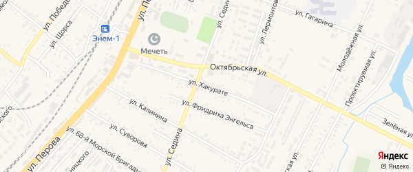 Улица Хакурате на карте поселка Энема с номерами домов
