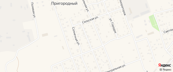 Улица Федора Абрамова на карте Пригородного поселка с номерами домов