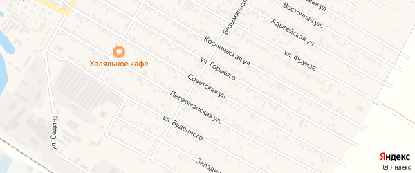 Советская улица на карте поселка Энема с номерами домов