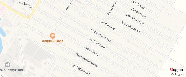 Безымянная улица на карте поселка Энема с номерами домов