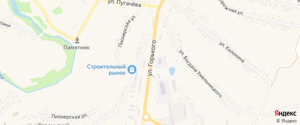 Улица М.Горького на карте поселка Ровенек с номерами домов