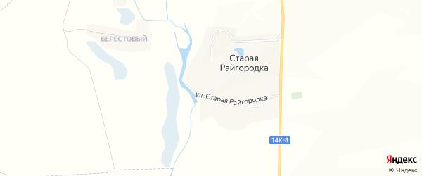 Карта хутора Новой Райгородки в Белгородской области с улицами и номерами домов