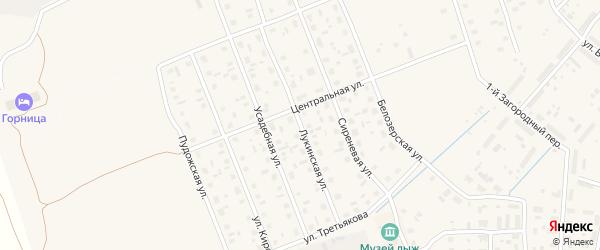 Лукинская улица на карте Каргополя с номерами домов