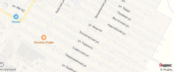 Космическая улица на карте поселка Энема с номерами домов