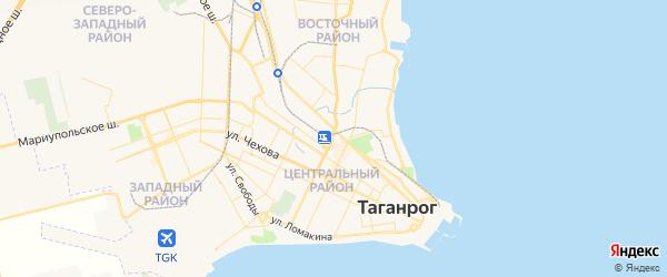 Карта Таганрога с районами, улицами и номерами домов