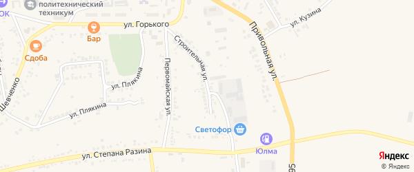 Строительная улица на карте поселка Ровенек с номерами домов