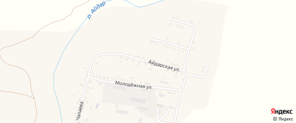 Айдарская улица на карте поселка Ровенек с номерами домов