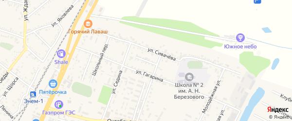 Улица Захарова на карте поселка Энема с номерами домов