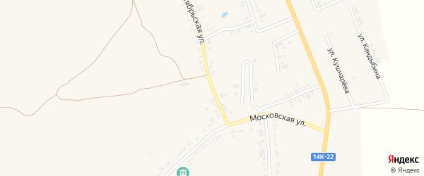 Октябрьская улица на карте поселка Ровенек с номерами домов