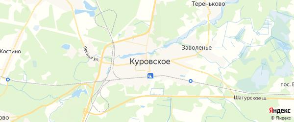 Карта Куровского с районами, улицами и номерами домов
