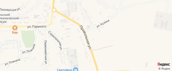 Привольная улица на карте поселка Ровенек с номерами домов