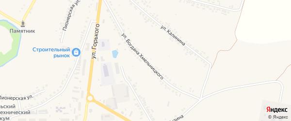 Улица Б.Хмельницкого на карте поселка Ровенек с номерами домов
