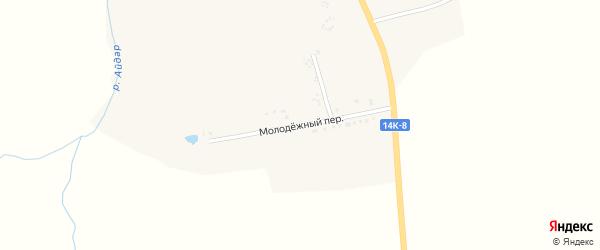 Молодежный переулок на карте села Айдара с номерами домов