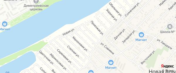 Абрикосовая улица на карте садового некоммерческого товарищества Закубанские сады 2 с номерами домов