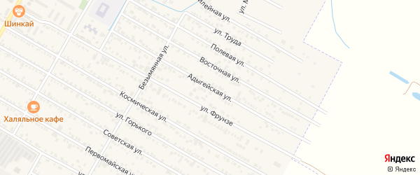 Адыгейская улица на карте поселка Энема с номерами домов