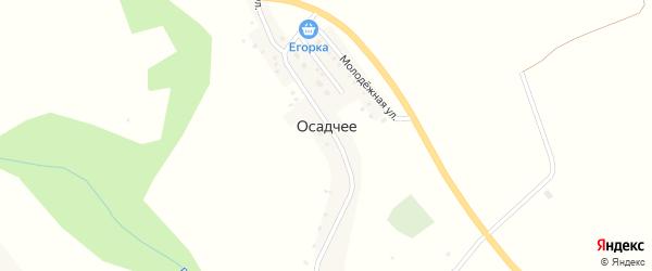 Луговая улица на карте Осадчее села с номерами домов