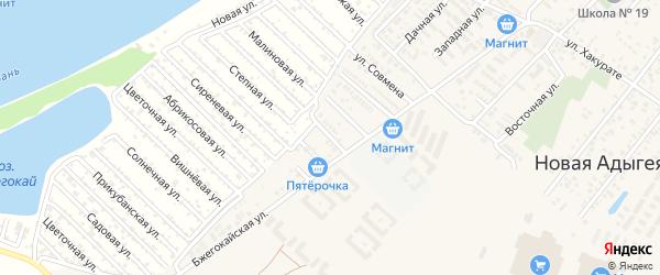 Садовая улица на карте садового некоммерческого товарищества Зори Кубани с номерами домов