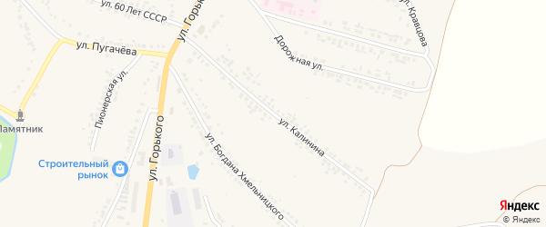 Улица Калинина на карте поселка Ровенек с номерами домов