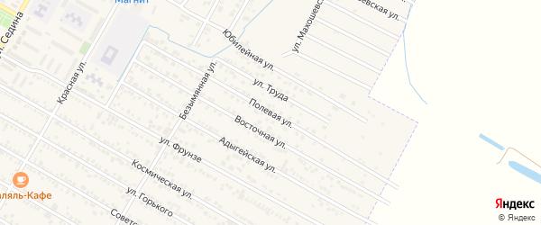 Полевая улица на карте поселка Энема с номерами домов